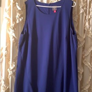 Plus size blue dress by Vince Camuto